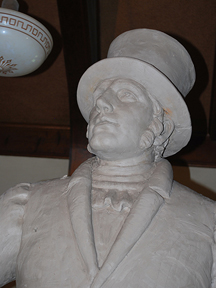 Francois Chouteau, full-size clay model