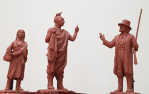 "Marquette clay sculptures 15"" to 17"" tall"