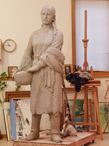 Osage woman, full-size clay model
