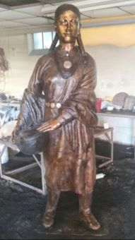 Osage woman, complete front view 191x340